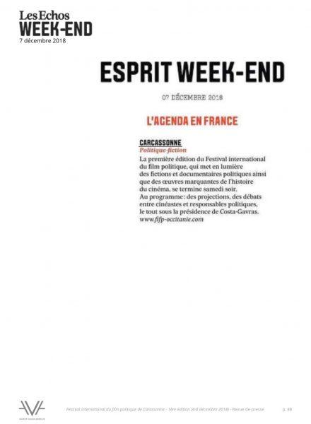 Festival du film politique - FIFP - Carcassonne - 2018 - Relations presse - Festival - Cinéma - Les Echos Week-end