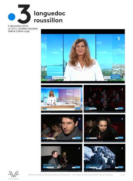 Festival du film politique - FIFP - Carcassonne - 2018 - Relations presse - Festival - Cinéma - France 3 région