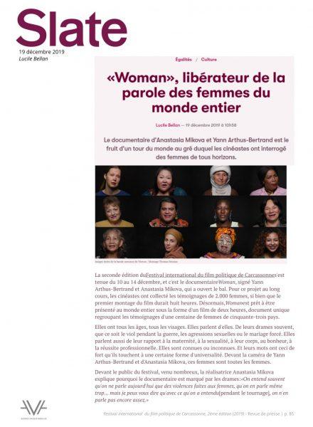 Festival du film politique - FIFP - Carcassonne - 2019 - Relations presse - Festival - Cinéma - Slate