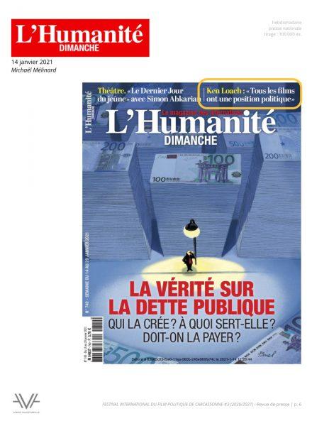 Festival du film politique - FIFP - Carcassonne - 2020 - 2021 - Relations presse - Festival - Cinéma - L'Humanité dimanche