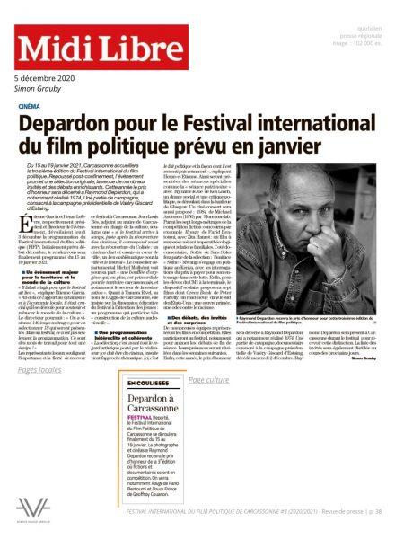 Festival du film politique - FIFP - Carcassonne - 2020 - 2021 - Relations presse - Festival - Cinéma - Midi Libre