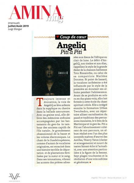 ANGELIQ - Musique - relations presse - attaché de presse - presse