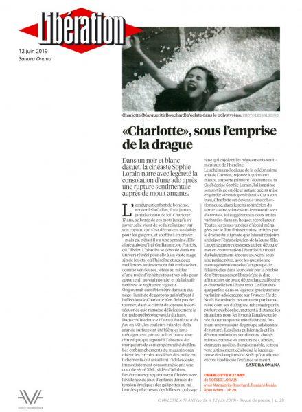 Charlotte à 17 ans - film - quebec -sortie nationale - France - relations presse - attaché de presse