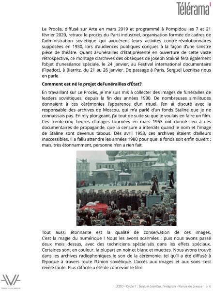 Losnitza - La Cinémathèque du documentaire - Bibliothèque publique d'information - Bpi - revue de presse - relations presse - attaché de presse - cinéma - documentaire - festival