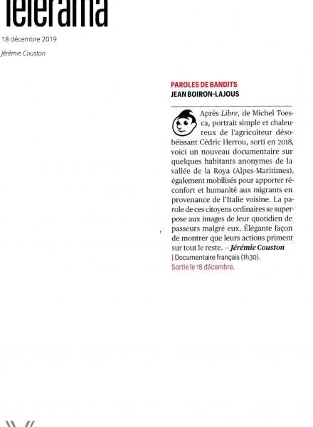 Parole de Bandits - film - documentaire - revue de presse - relations presse - attaché de presse - cinéma - culture