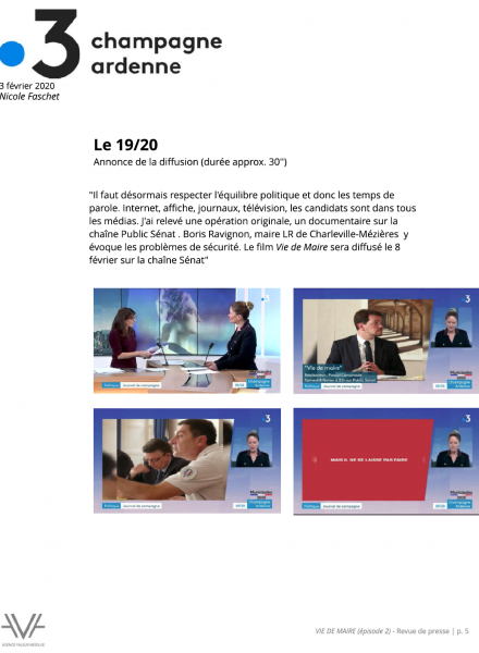 Vie de Maire - film - TV - documentaire - revue de presse - relations presse - attaché de presse - cinéma - culture