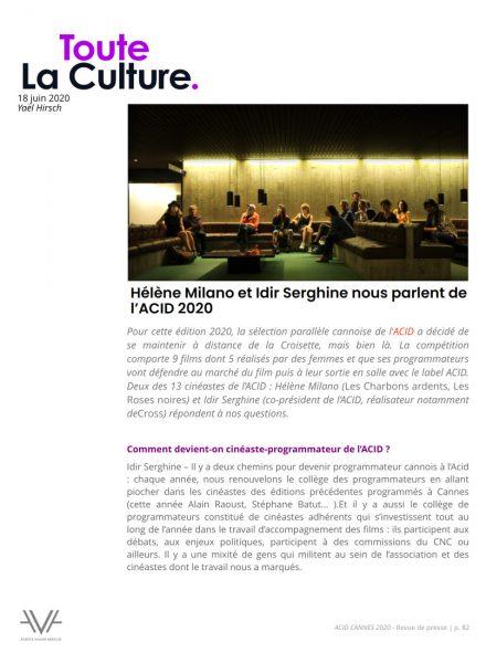ACID - Cannes - festival de Cannes - festival - cinéma - films - relations presse - attaché de presse - cinéma indépendant - culture